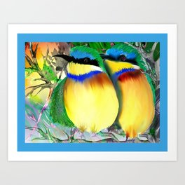 two bee eaters Art Print