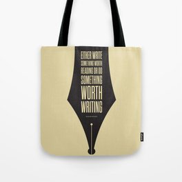 Lab No. 4 - Reading and Writing Benjamin Franklin Quotes Poster Tote Bag