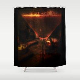 Strawberry Martini Shower Curtain