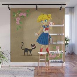 Retro Sailor Moon Wall Mural
