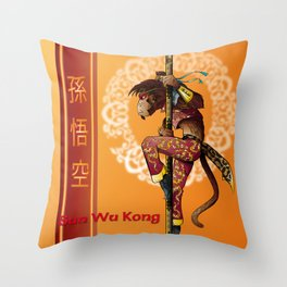 Sun Wu K'ung Throw Pillow