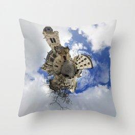 Stéréographique Place de l'Abbé-Basset, Paris Throw Pillow