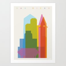 Shapes of San Diego Art Print
