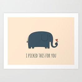 Cute Elephant Art Print