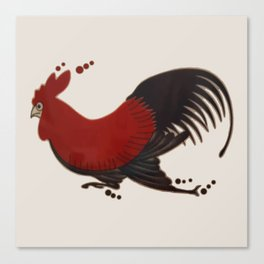 Running Roosters Canvas Print