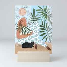 I like to relax Mini Art Print