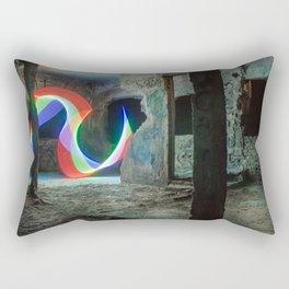 Art light in a abandoned building Rectangular Pillow