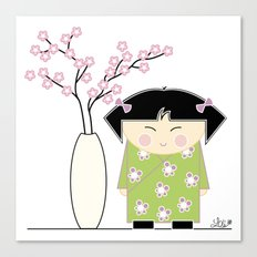 Little Asian Girl Canvas Print