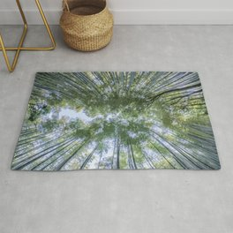 Looking up the Bamboo Trees and the Sky Rug