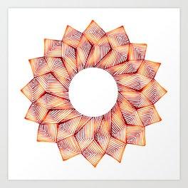 Threaded Lotus Art Print