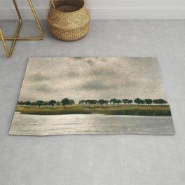 Afternoon Storm on the Coast and Salt Pond landscape by Vilhelm Hammershoi Rug