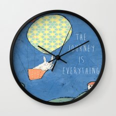 The Journey is Everything Wall Clock