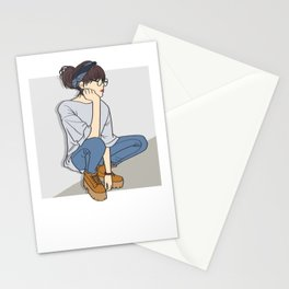 Tomboy OOTD Outfit of the Day Art Stationery Cards