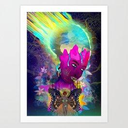 Global Brain Art Print
