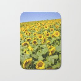 Summer Sunflower Love II Bath Mat