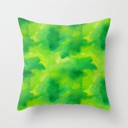 Watercolour greened Throw Pillow