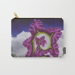 Purple Poppy Flower Carry-All Pouch