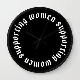 Women Supporting Women Wall Clock
