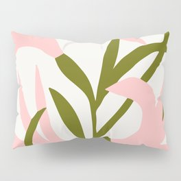 Floral Print, Flower Meadow, Large Giclee Print from Painting, Wall Art, Abstract Meadow Print, pink Pillow Sham