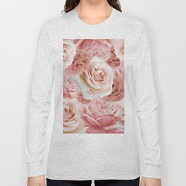 Soft Pink Roses Long Sleeve T-shirt