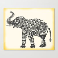 ornate elephant Canvas Prints featuring Elephant by famenxt