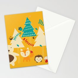 Woodland Christmas friends Stationery Cards