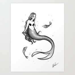 Sinking - Sketch Art Print