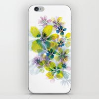 fireworks iPhone & iPod Skins featuring Fireworks by La Rosette Illustration