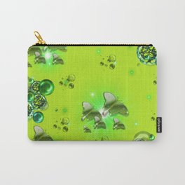 Greenery - Butterflies and Bubbles Carry-All Pouch