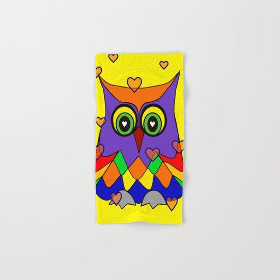 I Love Owls Hand & Bath Towel