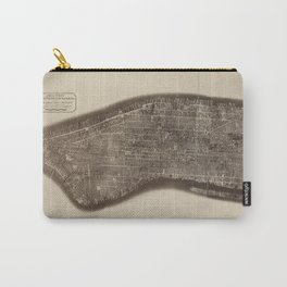New York, Manhattan, Vintage Map Carry-All Pouch