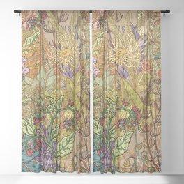 Floral Garden Sheer Curtain