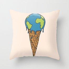 Earth Cream Cone Throw Pillow