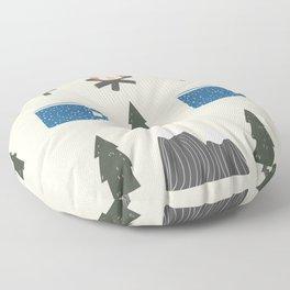 Camping Pattern Floor Pillow