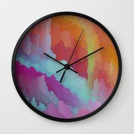 Crystal cave dreamscape Wall Clock