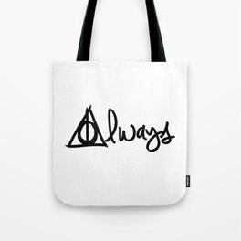 Always, Deathly Hallows, Harry Potter Tote Bag