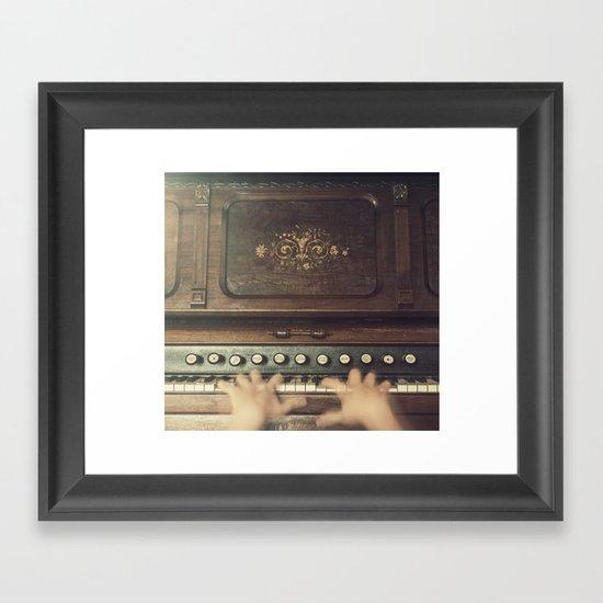 Frantic at the Keys Framed Art Print