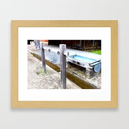 Empty Trough, Overflowing Gutter Framed Art Print
