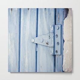 blue hinge Metal Print