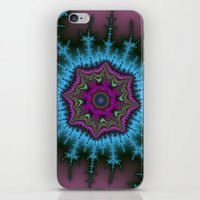 shield iPhone & iPod Skins featuring Fractal Shield by Harvey Warwick