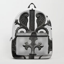 New Orleans Marigny Black and White Fence Backpack
