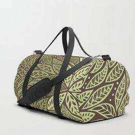 Polynesian Tribal Tattoo Shades Of Green Floral Design Duffle Bag