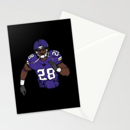 Adrian peterson Stationery Cards