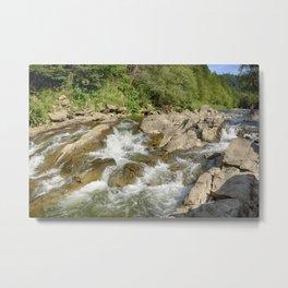 Blue whirlpools waterfall Metal Print
