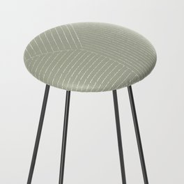 Lines (Linen Sage) Counter Stool