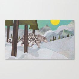 Snow Leopard January 2014 Print #2 Canvas Print