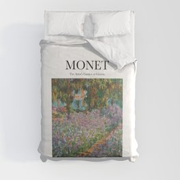 Monet - The Artist's Garden at Giverny Comforters