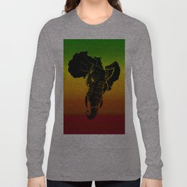 Rasta African Elephant Long Sleeve T-shirt