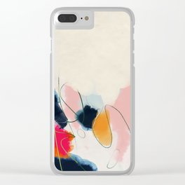 abstract art Clear iPhone Case