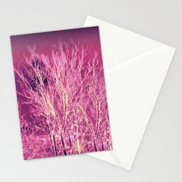 Starry Night in a Magic Forest Stationery Cards